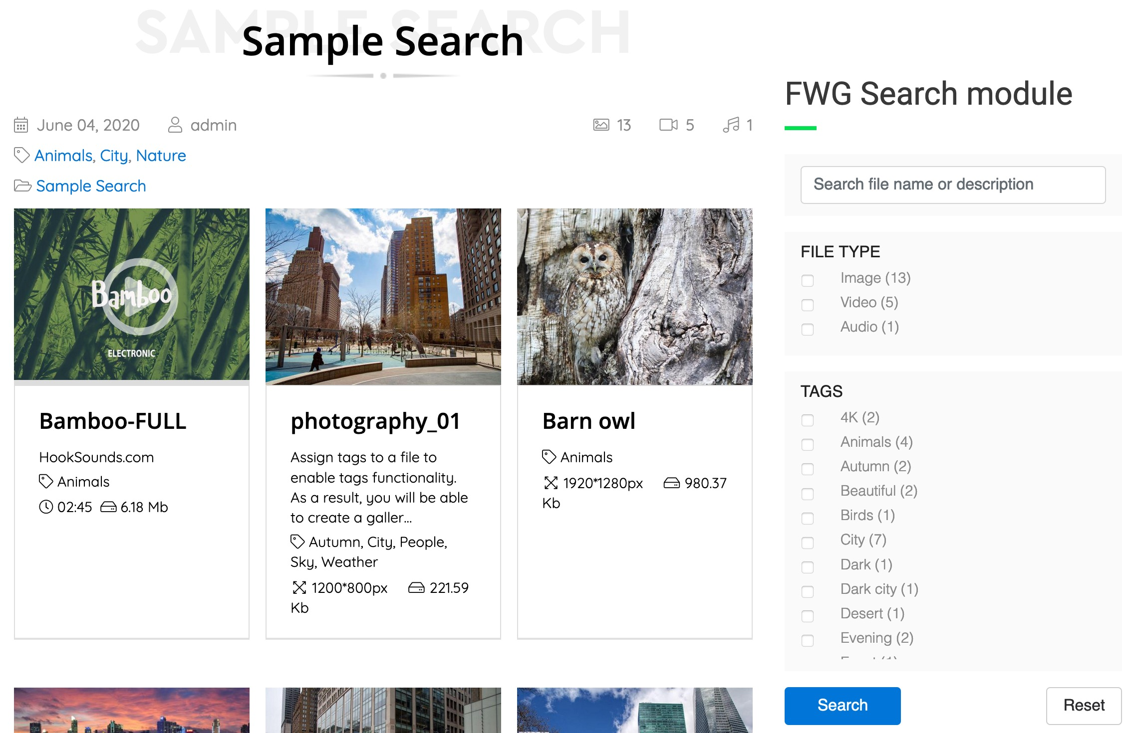 FWG Search & Filter
