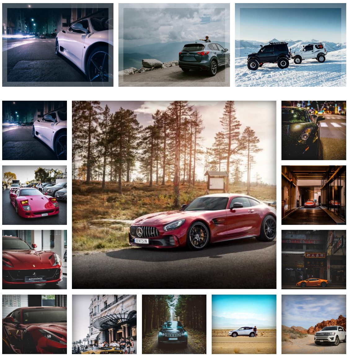 <p>Clean and modern-looking design for your gallery. Designed for a particular stylish hover effect with all extra information on it for better presentation.</p>