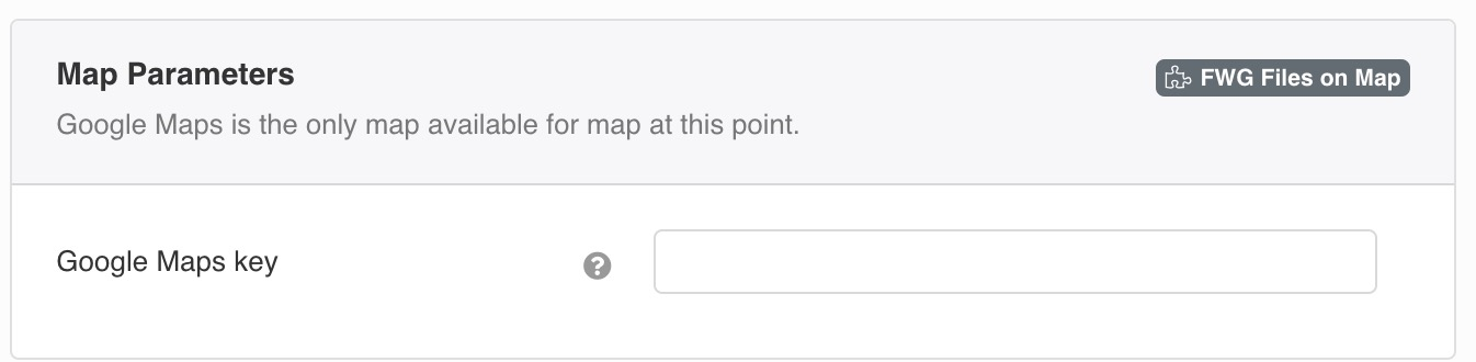 Google Maps is the only map available for map at this point.