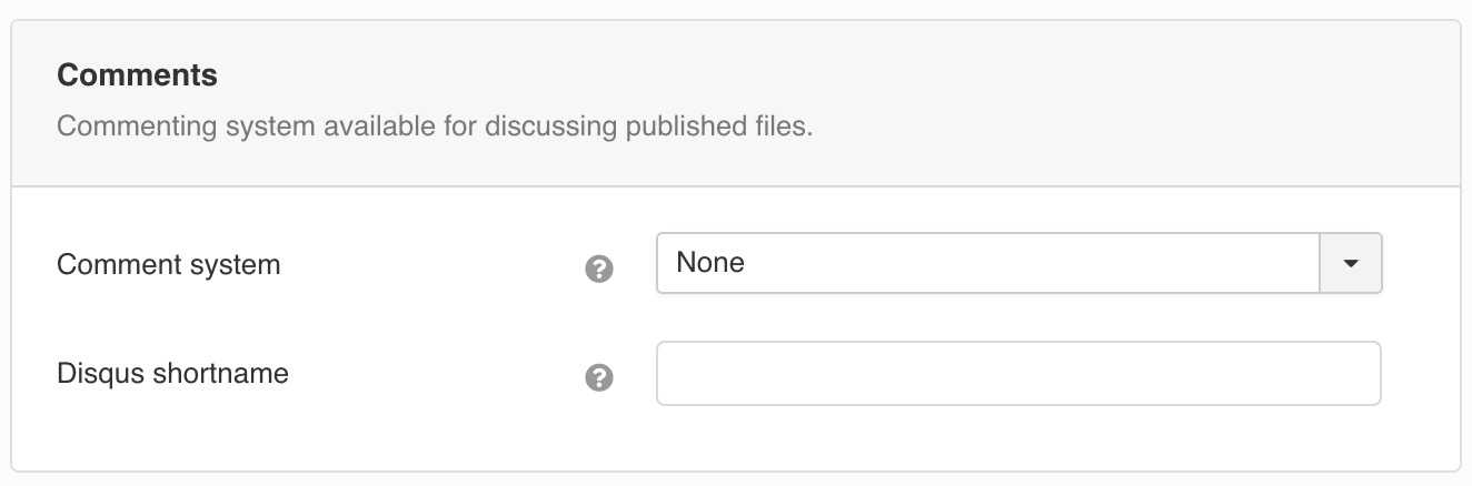 Commenting system available for discussing published files.